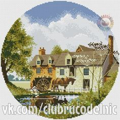 VK is the largest European social network with more than 100 million active users. Counted Cross Stitch Patterns, Cross Stitch Designs, Cross Stitch Embroidery, Cross Stitch House, Country Scenes, Needlepoint, Crochet, Photo Wall, Kids Rugs