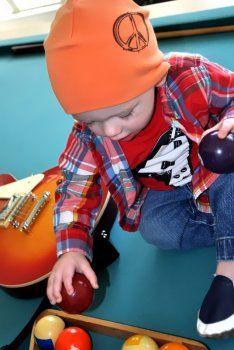 Boys Orange Peace Sign Hat by Jamie Rae Hats at www.shopmanhattanite.com