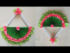 Paper Flower Wall Hanging - DIY Hanging Flower - Wall Ornament concepts - Ideas of Decoration Paper Wall Hanging, Wall Hanging Crafts, Hanging Flower Wall, Flower Wall Decor, Diy Hanging, Diy Wall Art, Cool Paper Crafts, Paper Flowers Craft, Paper Flower Wall
