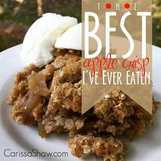 The Best Apple Crisp I've Ever Eaten (Favorite Desserts Apple Crisp) A perfect apple crisp with a double layer of crisp! This is the classic apple crisp you've been looking for. Mini Desserts, Just Desserts, Dessert Recipes, Apple Desserts, Dessert Ideas, Delicious Desserts, Oreo Dessert, Fall Recipes, Great Recipes