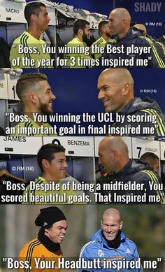 Zinedine Zidane, the inspiration of every Real Madrid player