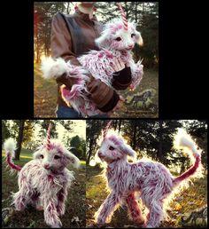 Hand Made Posable Fantasy Baby Sherbet Unicorn! by Wood-Splitter-Lee.deviantart.com on @deviantART