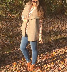 "Miss Mia Ciofolo on Instagram: ""Crunching leaves on this fine Saturday!! This Loft sweater vest is perfect for this cool fall weather  #sweaterweather"""