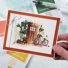 Bicycle Cards, New Home Cards, Up Book, Fancy Fold Cards, Stamping Up Cards, Fall Cards, Creative Cards, Homemade Cards, Making Ideas