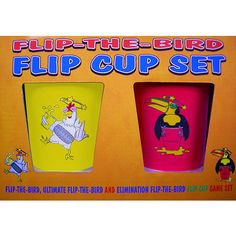 Flip-the-Bird Flip Cup Game Set - Flip Cup fun with 16 cups and game rules included. $11.99