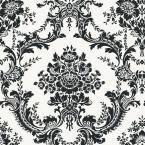 Graham & Brown 56 sq. ft. Vintage Flock Black Wallpaper-30-157 at The Home Depot