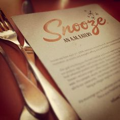 Snooze... by Ernie Pampo, via Flickr   #typography #brown #tan #iphoneography