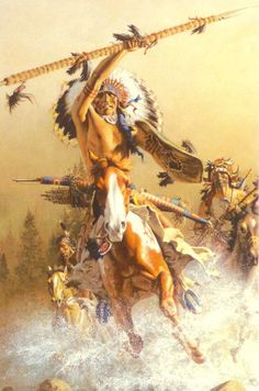 "~Knowledge can come from hearing prophecy, but wisdom comes from learning how to use the knowledge about the prophecy...otherwise we become frozen in the dream, as if caught in ice.."" ~Last Cry, Native American Prophecies~ *Artist: Frank McCarthy*"