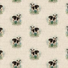 Cow All Over Linen Style Canvas Fabric Polka Dot Curtains, Pattern Weights, Rectangle Table, Door Stopper, Printed Linen, Cotton Linen, Cotton Fabric, Fabric Panels, Table Runners