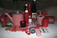 A red and white collection by Sprakfåle.
