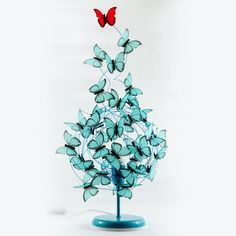 Table lamp with flying butterflies-Gift for her butterfly lover Women Gift,butterflies Decor wedding turquoise red butterflies shadow lamp Butterfly Lamp, Butterfly Gifts, Butterfly Decorations, Red Butterfly, Wedding Decorations, Decor Wedding, Image Beautiful, Fairy Lamp, Little Girl Gifts