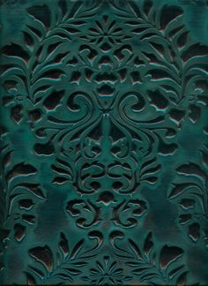 Leather Fabric, 3 Things, Verona, Bold Colors, Damask, Blue Green, Upholstery, Presentation, Teal
