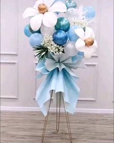 Birthday Balloon Decorations, Diy Wedding Decorations, Birthday Balloons, Diy Baby Shower Decorations, Balloon Arrangements, Balloon Centerpieces, Diy Party Centerpieces, Balloon Flowers, Balloon Bouquet
