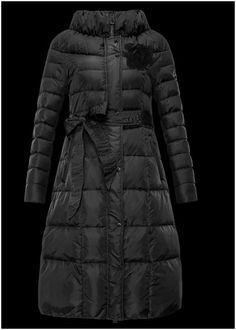 0a71fb8a7a4c doudoune longue moncler outlet manteau femme hiver Col noir boutique moncler