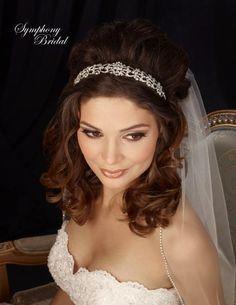 Vintage Look Headband Symphony Bridal 7317cr - Affordable Elegance Bridal
