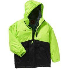 Swiss Tech Boys' 3 in 1 System Jacket, Size: 18, Green