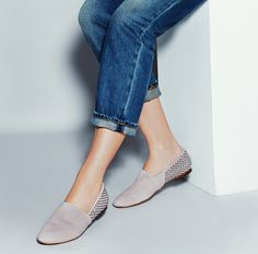Blush suede flats. Good for everyday occasions. Simple yet stylish. #shoemint #rachelbilsondesigns