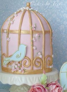 vintage birdcage, via Flickr.