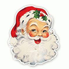 Vintage Die-Cuts - Christmas - Santa - Pretty Little Studio Merry Christmas Santa, Christmas Design, Christmas Pictures, Vintage Christmas, Christmas Holidays, Christmas Art, Christmas Stuff, Vintage Santa Claus, Vintage Santas