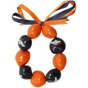 Denver Broncos Ladies Navy Blue-Orange Kukui Beaded Bracelet