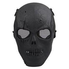 e506304544b2 Coxeer M01 Army Skull Skeleton Airsoft Paintball Bb Gun Game Face Mask ( Black) Coxeer