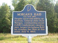 R12 & R8 John Hunt Morgan Heritage Trail across southern Indiana