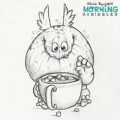 Hot cocoa, extra-large! ☕️ #morningscribbles