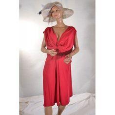 robe rouge 58/60 Bleu Bonheur