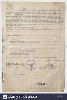 Download this stock image: Theodor Teddy Wisch and Sepp Dietrich, a recommendation for the promotion of Joachim Peiper 1943 Pre-printed form with typed e - CYRGEX from Alamy's library of millions of high resolution stock photos, illustrations and vectors.