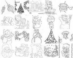 Embroidery On Paper Free Felt Christmas Patterns Simple Hand Embroidery Patterns, Christmas Embroidery Patterns, Christmas Applique, Applique Patterns, Christmas Patterns, Felt Christmas, Christmas Trees, Christmas Ornament, Vintage Christmas