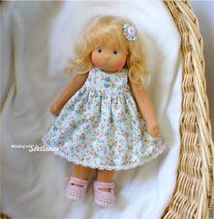 Купить Леночка, 29 см - вальдорфская кукла, вальдорфская игрушка, игровая кукла, детская кукла