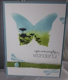 Best of Butterflies Beautiful Wings Masking by Carol Payne - Cards and Paper Crafts at Splitcoaststampers