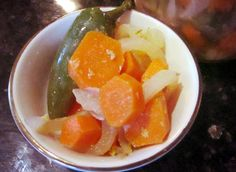 Spicy Marinated Carrots and Jalapenos!