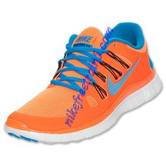 Buy The Cheap Nike Free 5.0 Mens Total Orange Blue Hero 579959 840
