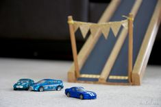 Handmade Toy Car Race Track by Natalme - I  seriously love this racetrack