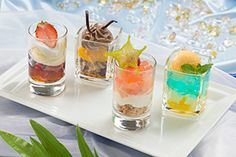 Please choose 2 dishes from in the glass dessert SS Columbia Dining Room