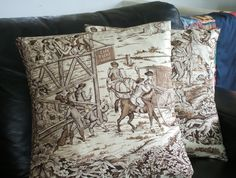 Cushion cover with english historic country scene Country Scenes, 18th Century, Cushions, English, Throw Pillows, Cover, Cushion, English Language, Pillows