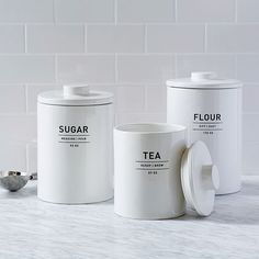 Utility Kitchen Canisters | west elm Flour canister big enough to hold 5lb bag?