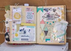 Scrapbook Journal, Mini Scrapbook Albums, Scrapbook Page Layouts, Smash Book Inspiration, Art Journal Inspiration, Art Journal Pages, Art Pages, Junk Journal, Book Crafts