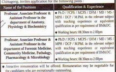 *BGC trust Medical College, post: Professor, asst. professor, Lecturer.* Source: The Daily Prothom Alo, Date of Publication: January 25, 2015 #newspaper #jobs #all #government #gov #lecturer #asst. #professor