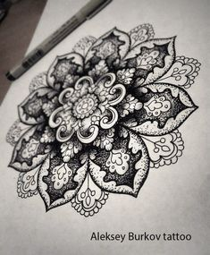 mandala; love the dimension to it