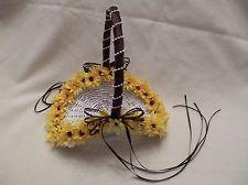 Wedding  Flower Girl Mini Sunflower Basket