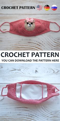 Best Picture For face mask For Your Taste You are looking for something, and it is going to tell you exactly what you are looking for, and you didn't find … Easy Crochet Patterns, Sewing Patterns Free, Free Pattern, Free Sewing, Sewing Tutorials, Knitting Patterns, Crochet Mask, Crochet Amigurumi, Crochet Teddy