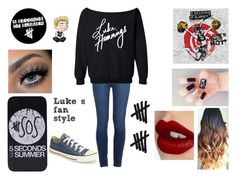 """Luke's fan style"" by beingmyselfaf on Polyvore featuring moda, Paige Denim, Charlotte Tilbury y Converse"