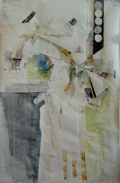 Leslie Pullen, appears to be mixed drawing, cutting, pasting, painting
