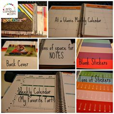 Erin Condren Planner laid out! These are the best PLANNERS! Great for anyone who needs to be more organized. Especially great for moms. Great planner for ADHD! 2015 Planner, Blog Planner, Planner Ideas, 2015 Calendar Printable, Printable Planner, Best Planners, Day Planners, Planner Organization, Organizing Life
