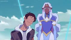 Lance trying to romantically flirt with Princess Allura from Voltron Legendary Defender