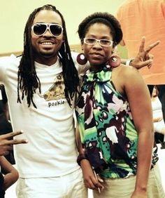 "With ""Soca King"" Machel Montano during Fashion Week TT 2009"
