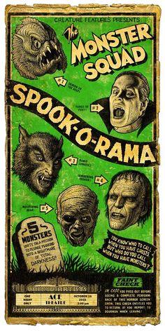 Retro-poster for cast reunion. Classic Monster Movies, Classic Horror Movies, Classic Monsters, Old Movie Posters, Horror Movie Posters, Comics Vintage, Vintage Movies, Poster Design Software, Arte Zombie