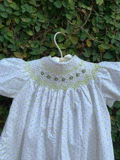 smocks dress baby hat birth hand embroidered liberty dress Dress hand smocks baby dress birthday flower dress baby dress cotton hat